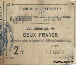 2 Francs FRANCE régionalisme et divers MONTBREHAIN 1915 JP.02-1549 TTB+