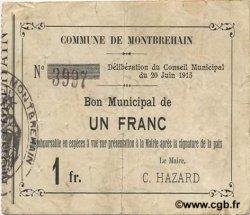 1 Franc FRANCE régionalisme et divers  1915 JP.02-1551 TTB