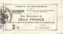 2 Francs FRANCE régionalisme et divers  1915 JP.02-1552 TTB