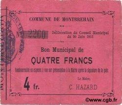 4 Francs FRANCE régionalisme et divers  1915 JP.02-1553 TTB