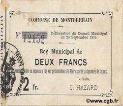 2 Francs FRANCE régionalisme et divers MONTBREHAIN 1915 JP.02-1555 TTB