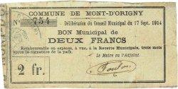 2 Francs FRANCE régionalisme et divers MONT D