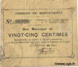 25 Centimes FRANCE régionalisme et divers MONT D
