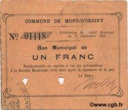 1 Franc FRANCE régionalisme et divers MONT D