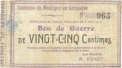 25 Centimes FRANCE régionalisme et divers  1915 JP.02-1585 TB
