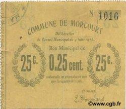 25 Centimes FRANCE régionalisme et divers MORCOURT 1915 JP.02-1600 TTB