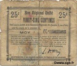 25 Centimes FRANCE régionalisme et divers MOY 1916 JP.02-1611.BRU B+