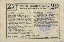 25 Centimes FRANCE régionalisme et divers NAUROY 1916 JP.02-1638.BRU SUP