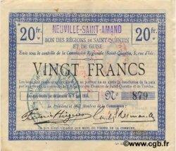 20 francs FRANCE régionalisme et divers NEUVILLE-SAINT-AMAND 1916 JP.02-1653.SQG SUP