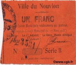 1 Franc FRANCE régionalisme et divers NOUVION (LE) 1915 JP.02-1677 TTB