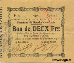 2 Francs FRANCE régionalisme et divers NOUVION LE COMTE 1915 JP.02-1697 TTB