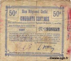 50 Centimes FRANCE régionalisme et divers  1916 JP.02-1710.BRU TB