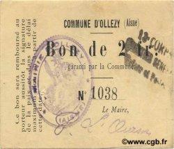 2 Francs FRANCE régionalisme et divers OLLEZY 1916 JP.02-1720 TTB