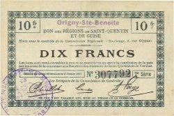 10 Francs FRANCE régionalisme et divers ORIGNY-SAINTE-BENOITE 1917 JP.02-1733v TTB