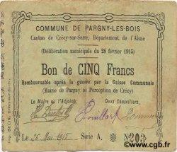 5 Francs FRANCE régionalisme et divers PARGNY-LES-BOIS 1915 JP.02-1741 TB
