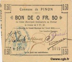 50 Centimes FRANCE régionalisme et divers PIN0N 1915 JP.02-1769 SUP
