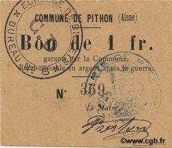 1 Franc FRANCE régionalisme et divers PITHON 1916 JP.02-1772 TTB+