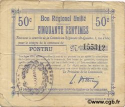50 Centimes FRANCE régionalisme et divers  1916 JP.02-1779.BRU TB