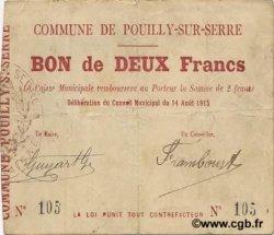 2 Francs FRANCE régionalisme et divers POUILLY SUR SERRE 1915 JP.02-1788 TB+