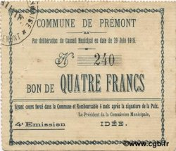 4 Francs FRANCE régionalisme et divers  1915 JP.02-1836 TTB