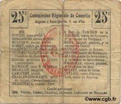 25 Centimes FRANCE régionalisme et divers PREMONT 1916 JP.02-1838.BRU TB