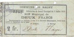 2 Francs FRANCE régionalisme et divers REGNY 1915 JP.02-1901 TTB