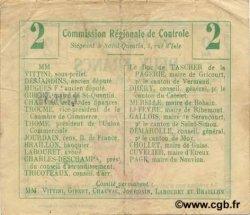 2 Francs FRANCE régionalisme et divers RIBEMONT 1916 JP.02-1940.BRU TTB