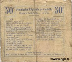 50 Centimes FRANCE régionalisme et divers RIBEMONT 1916 JP.02-1940.BRU TB