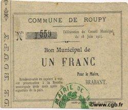 1 Franc FRANCE régionalisme et divers ROUPY 1915 JP.02-1949 TTB