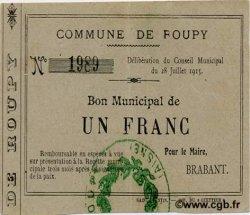1 Franc FRANCE régionalisme et divers ROUPY 1915 JP.02-1953 TTB