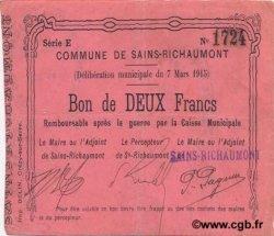 2 Francs FRANCE régionalisme et divers  1915 JP.02-1983 TTB