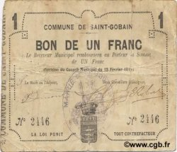 1 Franc FRANCE régionalisme et divers SAINT GOBAIN 1915 JP.02-1996 TB