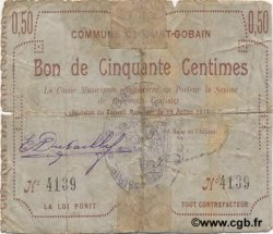 50 Centimes FRANCE régionalisme et divers SAINT GOBAIN 1915 JP.02-2007 B