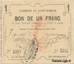 1 Franc FRANCE régionalisme et divers SAINT GOBAIN 1915 JP.02-2010 SUP
