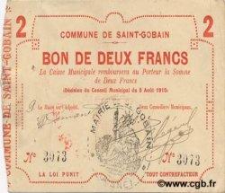 2 Francs FRANCE régionalisme et divers SAINT GOBAIN 1915 JP.02-2011 TTB