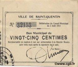 25 Centimes FRANCE régionalisme et divers  1914 JP.02-2028 SUP
