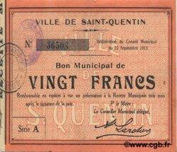 20 francs FRANCE régionalisme et divers  1915 JP.02-2043 TTB+