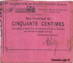 50 Centimes FRANCE régionalisme et divers SAINT SIMON 1914 JP.02-2099 TTB
