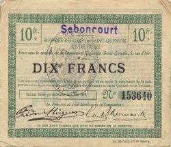 10 Francs FRANCE régionalisme et divers SEBONCOURT 1916 JP.02-2134.SQG TTB