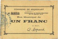 1 Franc FRANCE régionalisme et divers SEQUEHART 1915 JP.02-2140 TTB