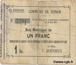 1 Franc FRANCE régionalisme et divers SERAIN 1915 JP.02-2160 B+