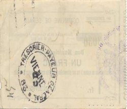 1 Franc FRANCE régionalisme et divers SERAIN 1915 JP.02-2160 TTB