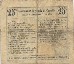 25 Centimes FRANCE régionalisme et divers SERAIN 1916 JP.02-2168.BRU TB