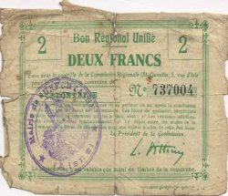 2 Francs FRANCE régionalisme et divers SURFONTAINE 1916 JP.02-2211.BRU AB