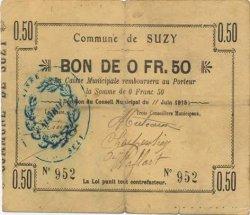 50 Centimes FRANCE régionalisme et divers SUZY 1915 JP.02-2214 TB