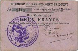 2 Francs FRANCE régionalisme et divers TAVAUX-PONTSERICOURT 1915 JP.02-2226 TTB