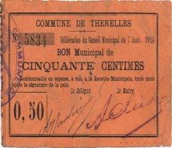 50 Centimes FRANCE régionalisme et divers THENELLES 1915 JP.02-2266 TTB