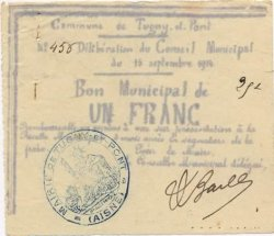1 Franc  FRANCE regionalism and miscellaneous  1914 JP.02-2298 VF