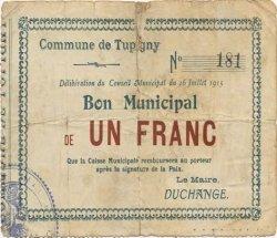 1 Franc FRANCE régionalisme et divers TUPIGNY 1915 JP.02-2313 TB