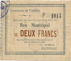 2 Francs FRANCE régionalisme et divers TUPIGNY 1915 JP.02-2314 TTB